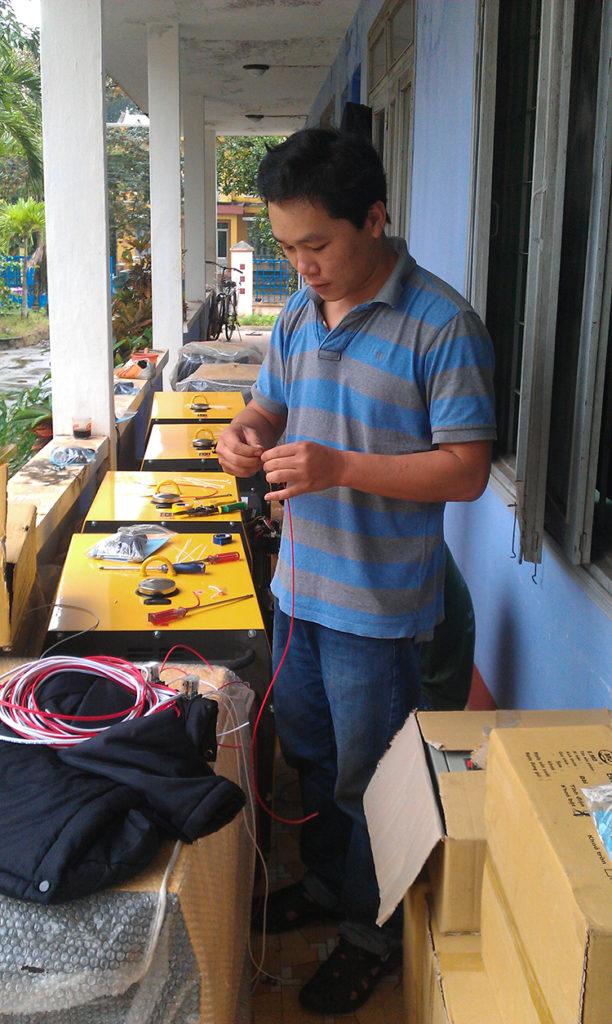 công trình lắp đặt máy phát điện tại viễn thông phú yên