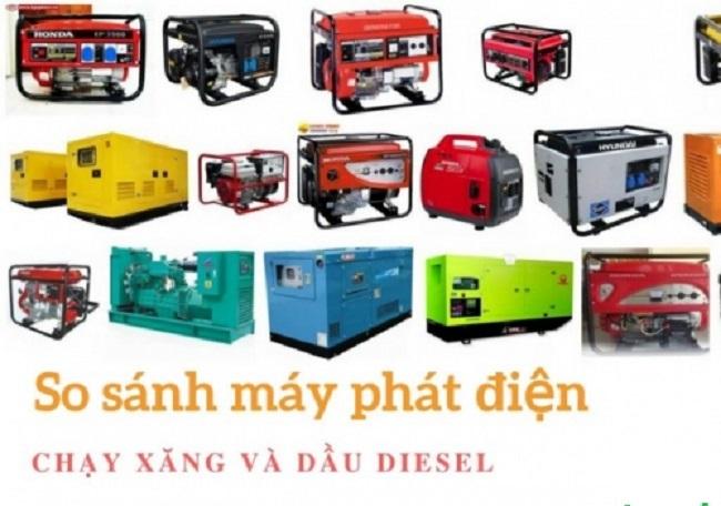 Máy phát điện dùng dầu diesel và dùng xăng